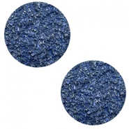 12 mm platte Polaris Elements cabochons Goldstein Cobalt blue