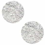 12 mm platte Polaris Elements cabochons Goldstein White