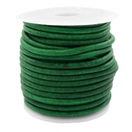 Leer DQ rond 3 mm Vintage classic green