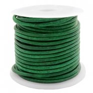 Leer DQ rond 2 mm Vintage classic green