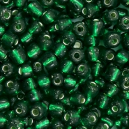 Rocailles 6/0 (4mm) Dark classic green silver lined