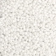 Rocailles 12/0 (2mm) Sparkling white