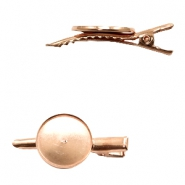 Metalen settings haarclip voor cabochon 20 mm Rosegold