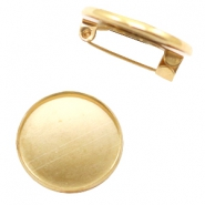Broches voor cabochon 20 mm Goud