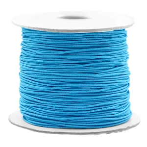 Gekleurd elastiek 0.8mm Aqua blue