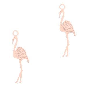 Bohemian hanger flamingo Light pink
