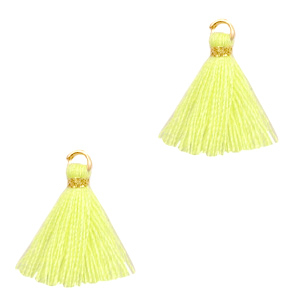 Kwastje 1.5cm Gold-sunshine yellow