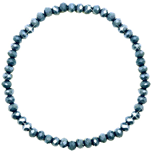Facet armbanden top quality 4x3mm Dark blue-pearl shine coating