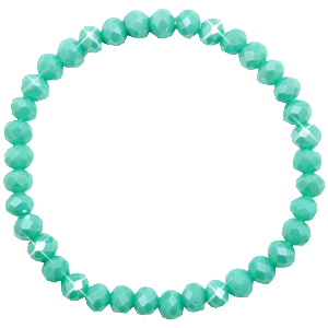 Facet armbanden top quality 6x4mm Turquoise green-pearl shine coating