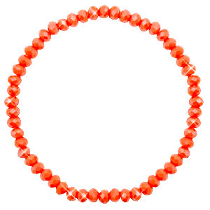 Facet armbanden top quality 4x3mm Coral orange-pearl shine coating