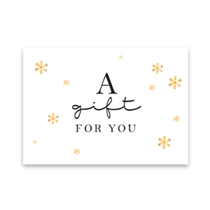 "Kaartjes voor sieraden ""a gift for you"" White"