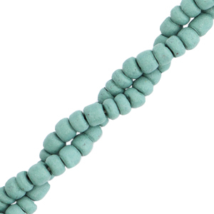 Disc kokos kralen 4mm Grayed jade blue
