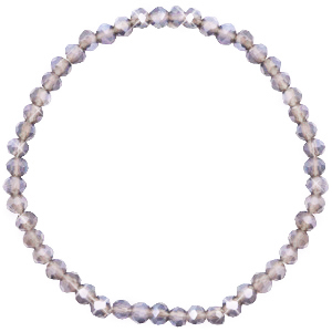 Facet armbanden top quality 4x3mm Champagneg grey crystal-pearl shine coating