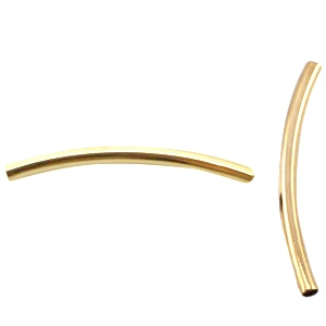 DQ metaal tubes 2.5 x 35 mm Gold plated