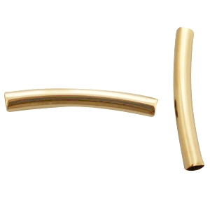 DQ metaal tubes 4x30mm Gold plated