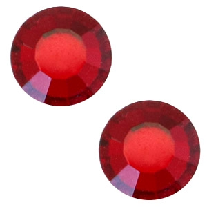 Swarovski Elements flat back SS30 (6.4mm) Siam red