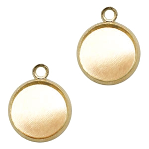 Metalen settings bedel voor cabochon 12mm Goud