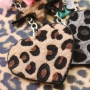 Sleutelhangers met imi leer hairy en stainless steel! Leopard is my favourite colour!